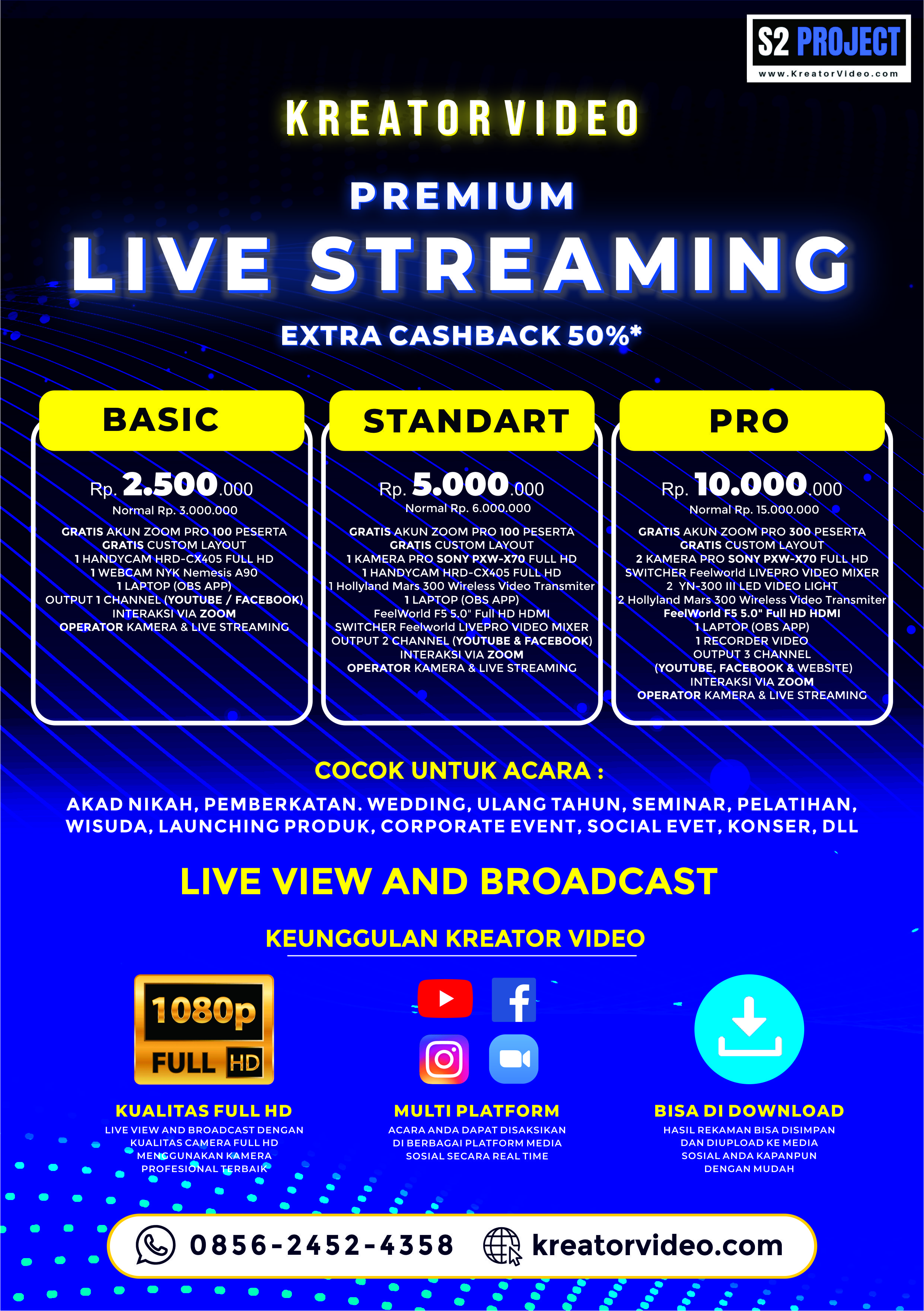 Live View And Broadcast   Live Streaming   Kreator Video Bandung